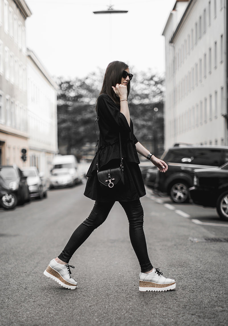 elsyse brogues stella mccartney all black outfit worry about it later