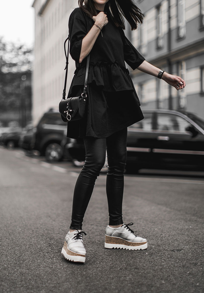 fashionblog austria stella mccartney elyse brogues white black ootd worry about it later
