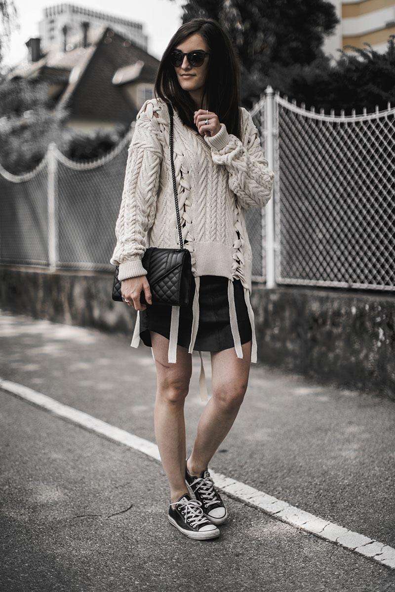 just female lederrock sommerlicher strickpulli beige worry about it later