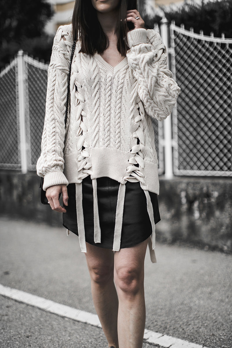 minirock leder just female worry about it later strickpulli sommer