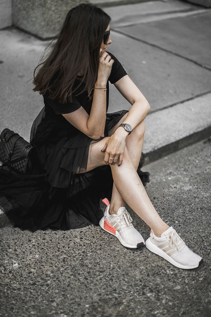 adidas nmd snekaers sheer dress seethrough worry about it later fashionblog austria