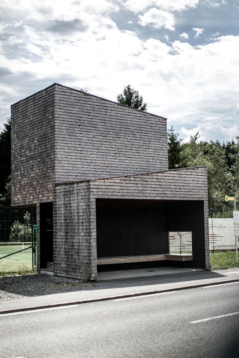 bushuesle vorarlberg krumbach Haltestelle Kressbag Rintala Eggertsson Architects Norwegen wartehüsle