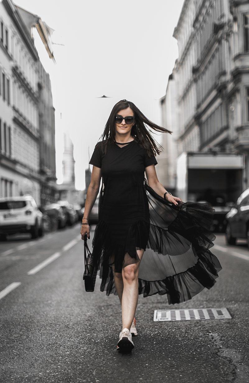 sheer black dress worry about it later minimal streetstyle austria fashionblog