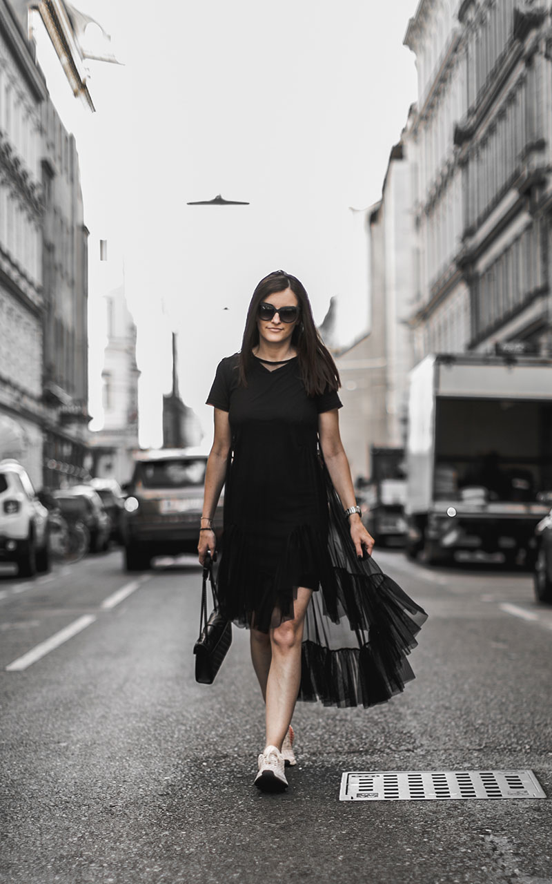 sheer dress black zara see through worry about it later austria fashionblog adidas nmd