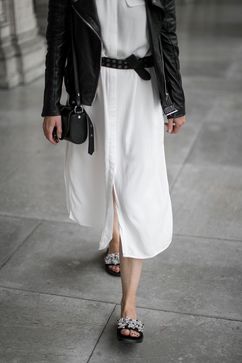 streetstyle vienna worry about it later white shirt dress selected femme ootd minimalistic look