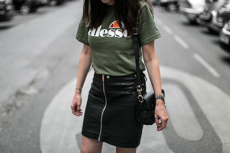 streetstyle vienna worry about it later fashionblog diesel lederrock ellesse tshirt