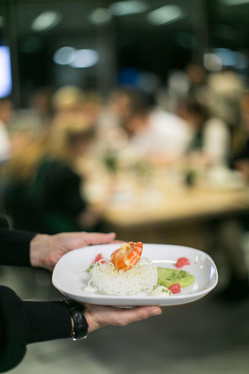 Garnele mit wasabischaum und avocado worry about it later foodblog wien sb wasabi