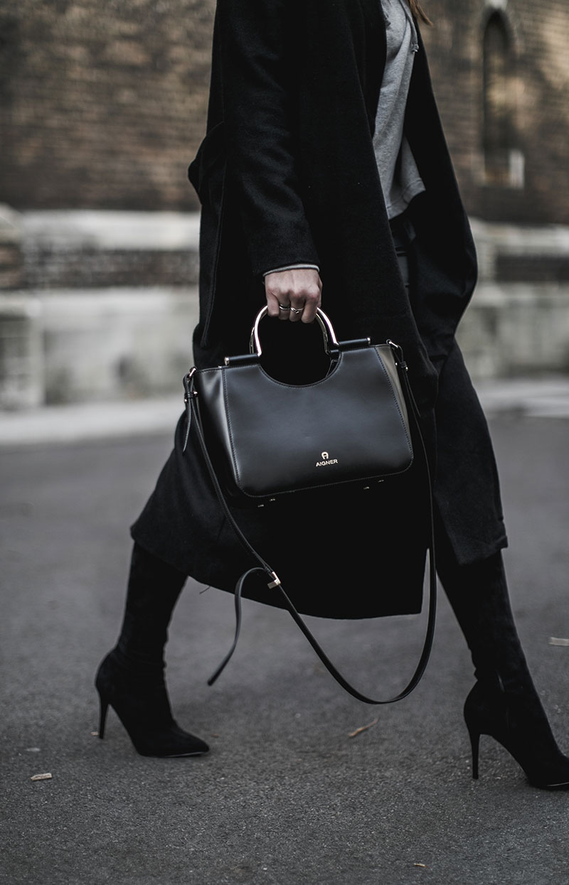 lexi bag aigner worry about it later streetstyle vienna all black outfit minimal
