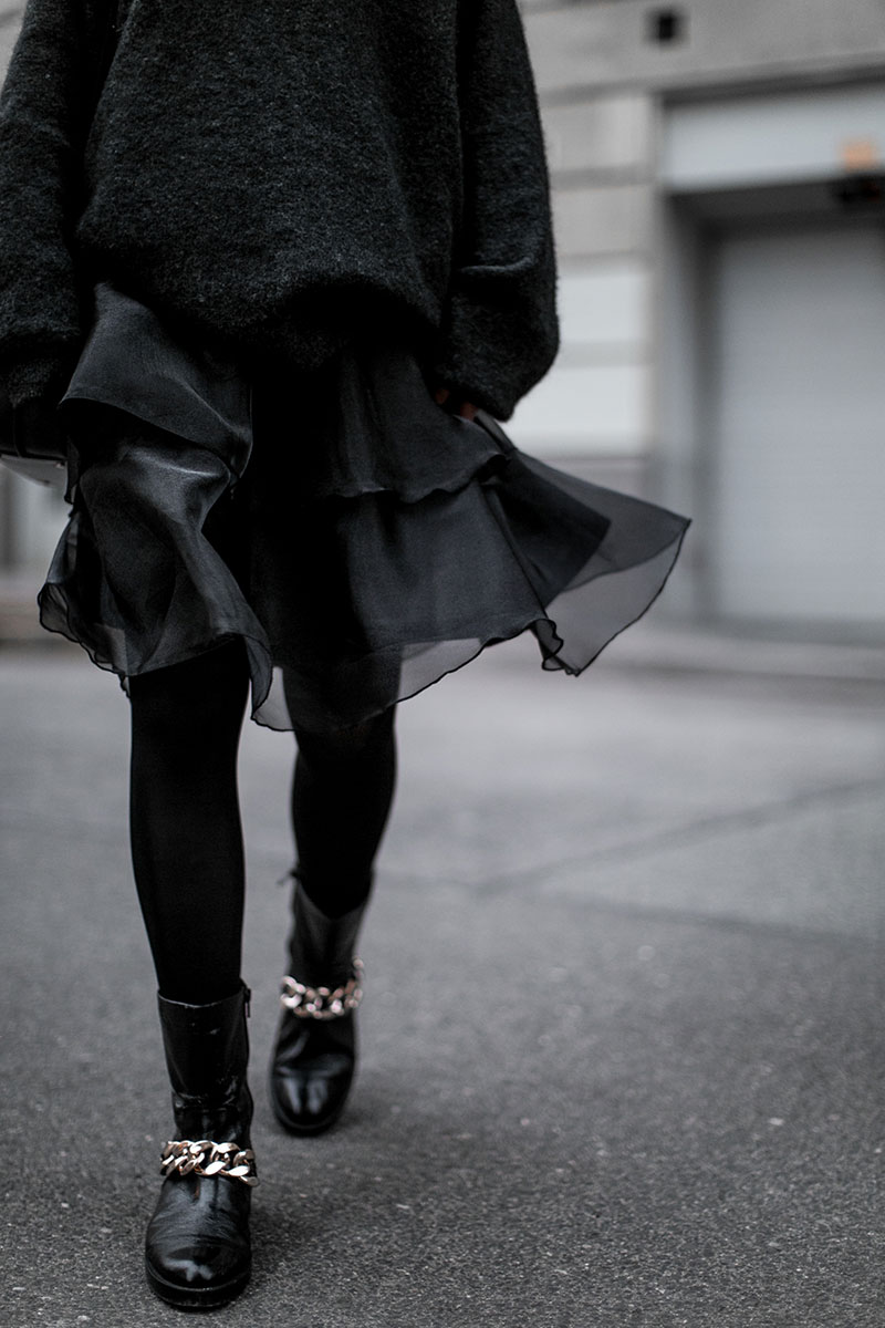 five facts about me tulle dress black hm worry about it later streetstyle vienna