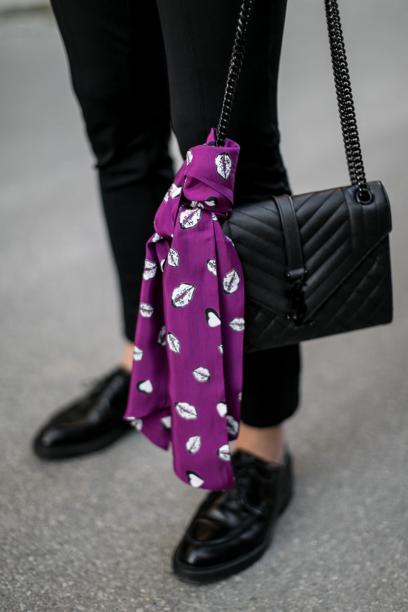 bettina loves jones ultraviolett saint lauret monograme bag